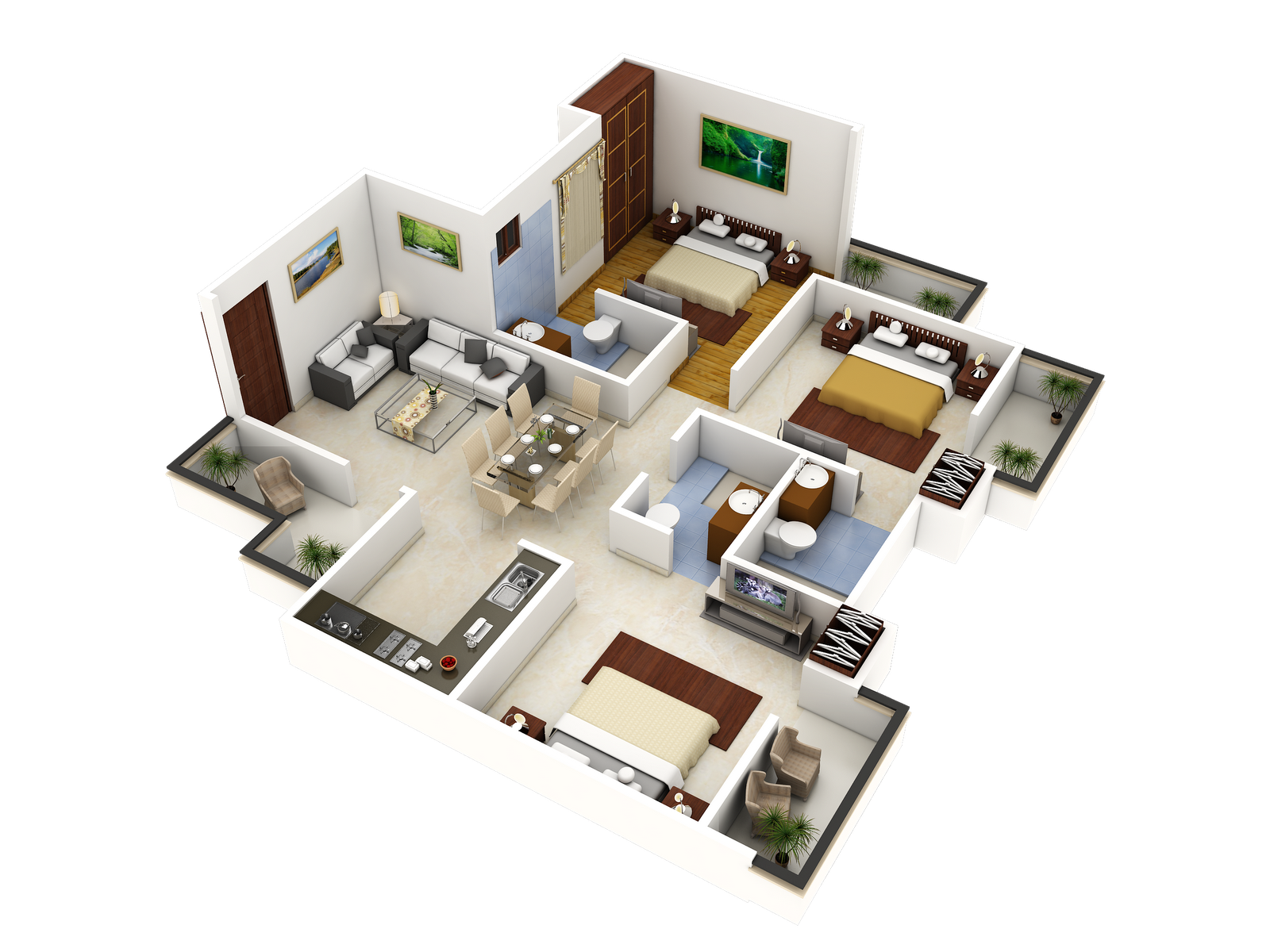 Floor Plan 3d Model Free Download
