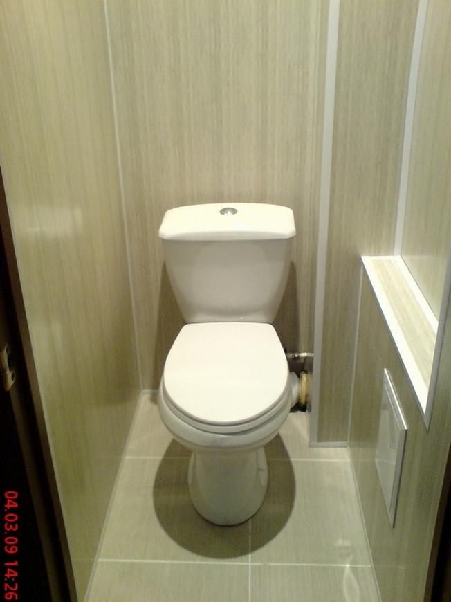 Фото ремонт туалета панелями пвх
