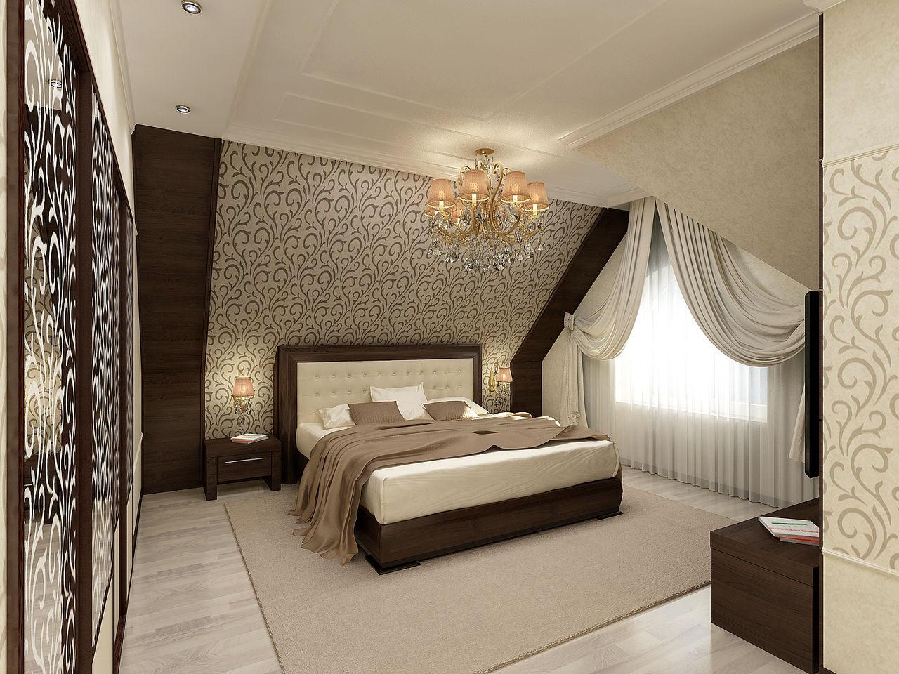 Спальня в мансарде дизайн фото