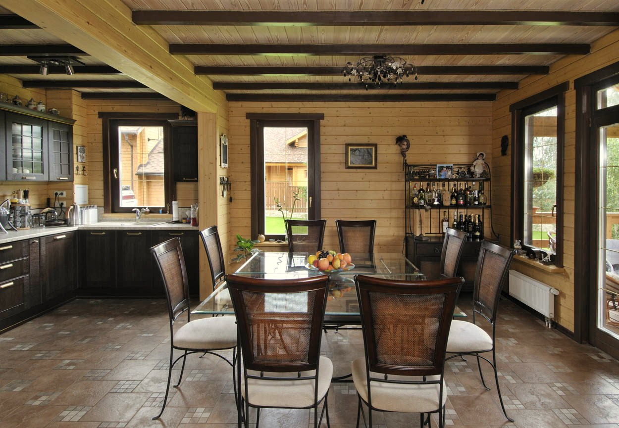 Дизайн дома из бруса внутри от лучших дизайнеров