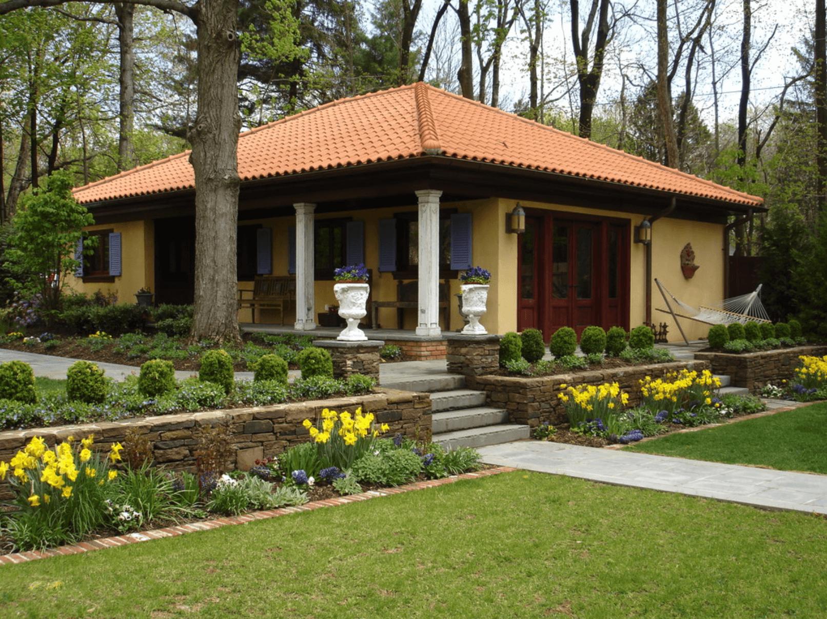 Интерьеры дворов частных домов фото