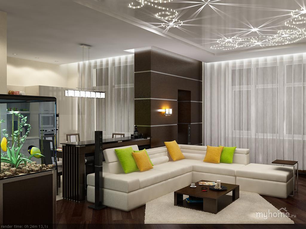 Дизайн и интерьер трехкомнатной квартиры
