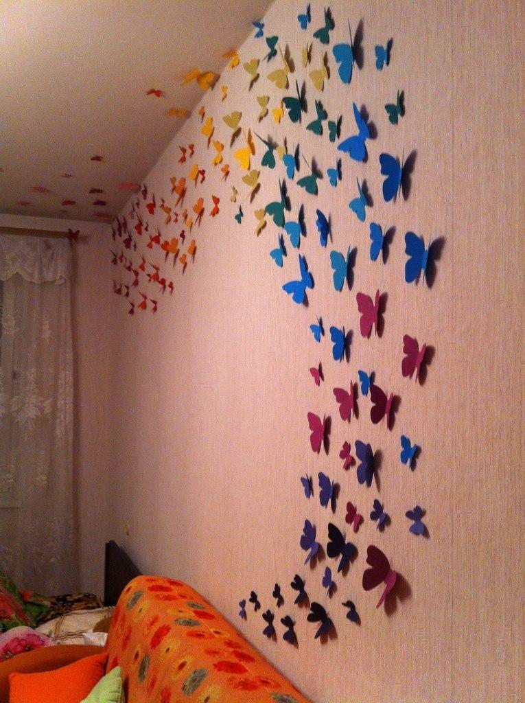 Дизайн бумажных бабочек