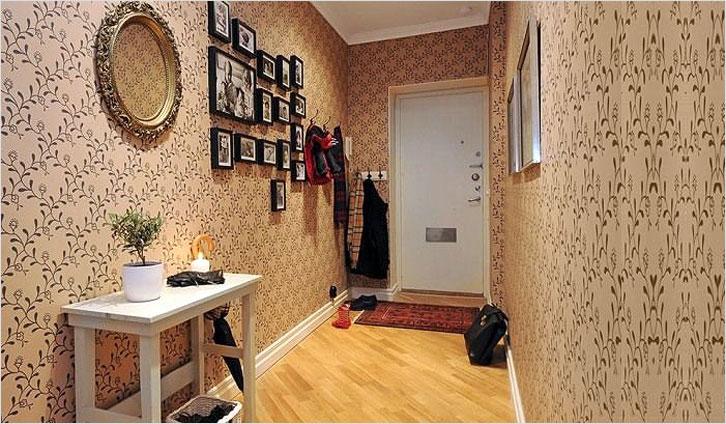 Обои для прихожей фото в интерьере для маленьких комнат фото