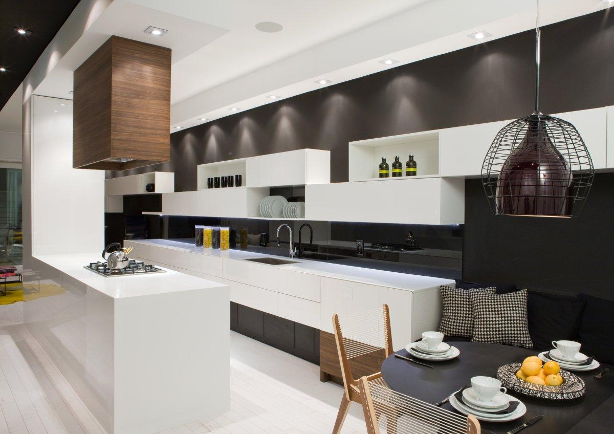 Фото дизайн кухни студии большой
