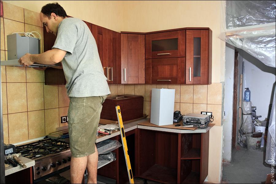 Ремонт кухни мебели своими руками
