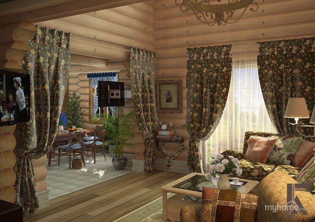 Интерьер комнат для коттеджей