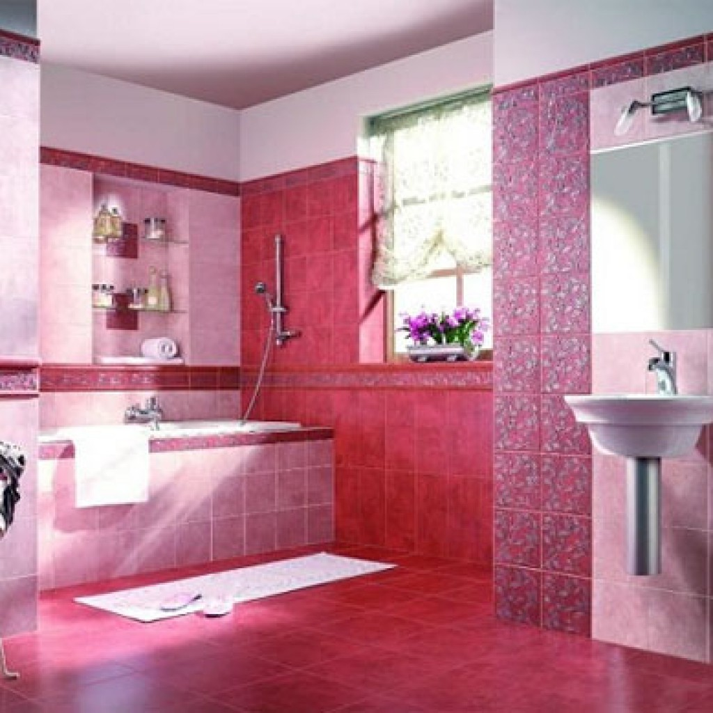 Pink bathrooms