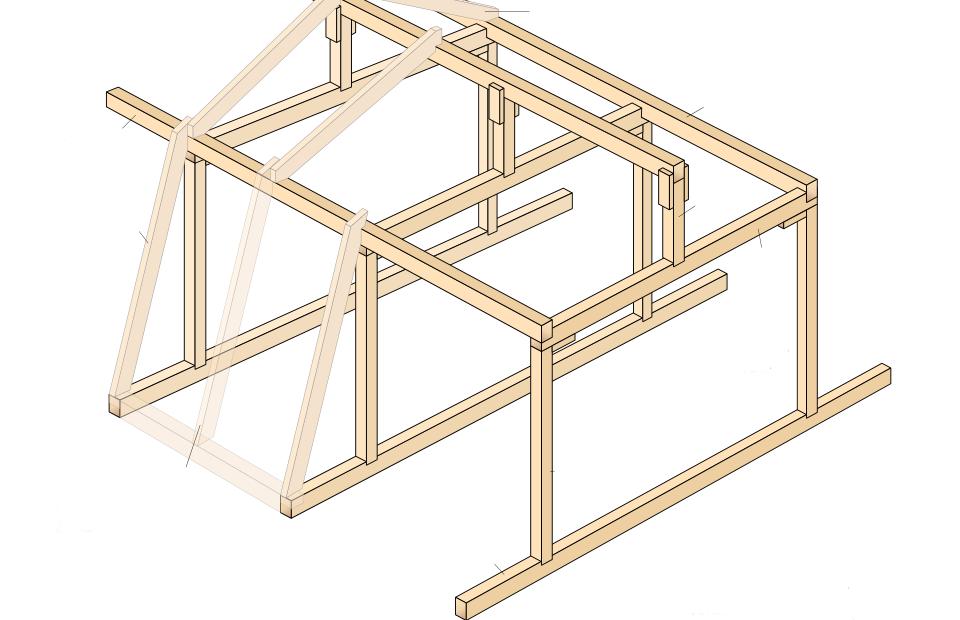 Изготовление крыши для бани своими руками