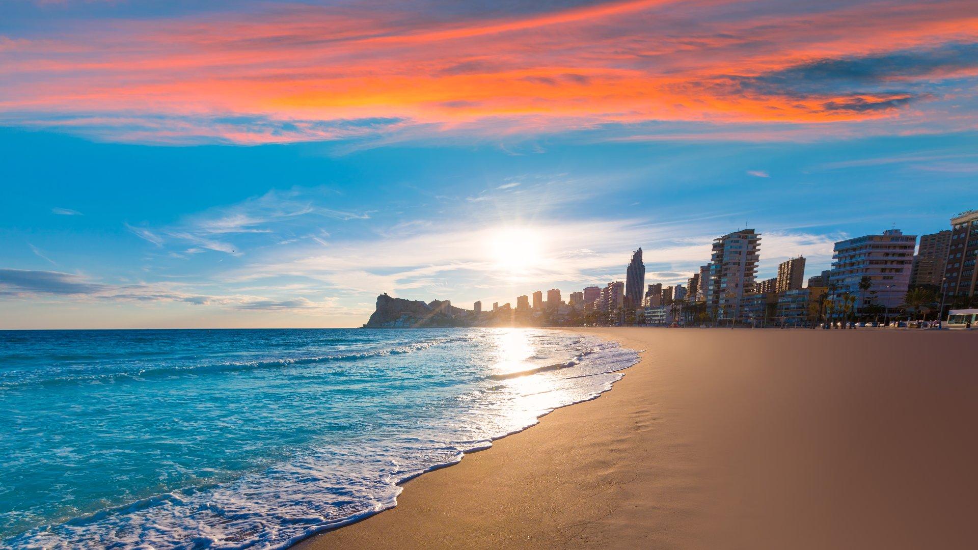 барселона пляж обои на рабочий стол № 540999 загрузить