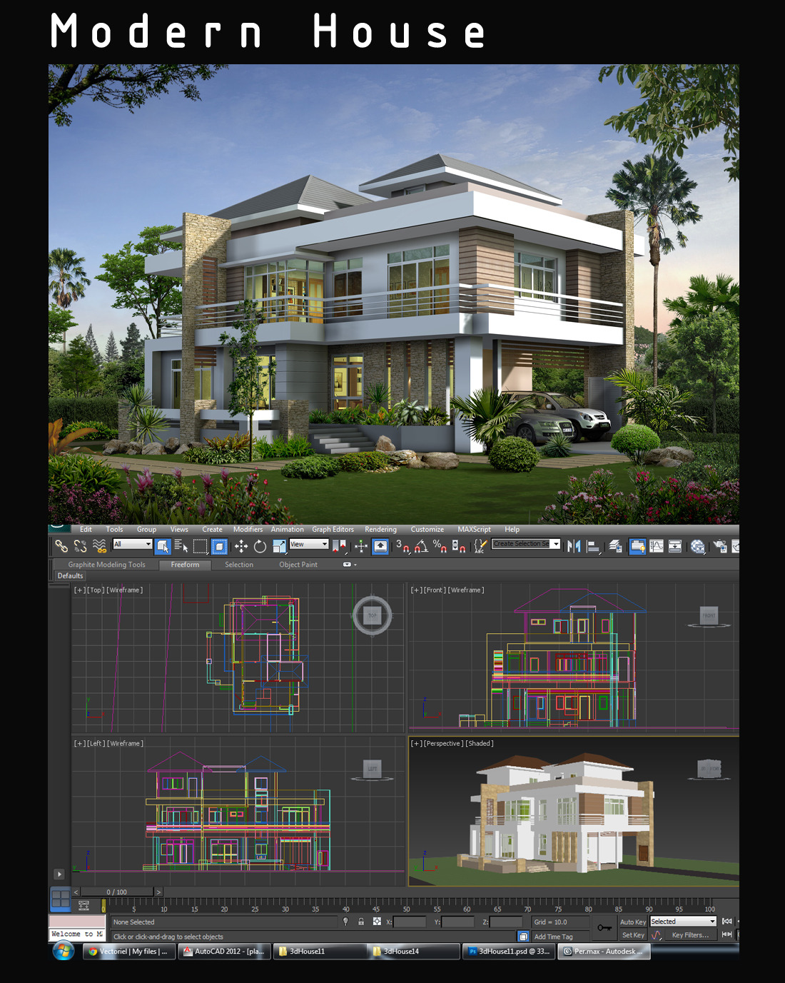 Create 3d house design for Build as you go house plans