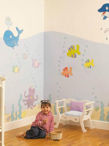 Как сделать рисунок на стене в детской комнате своими руками