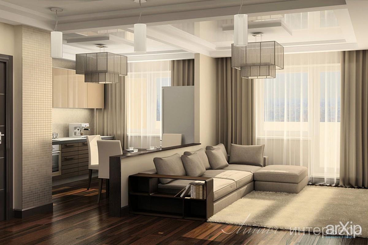 Однокомнатная квартира-студия интерьер фото