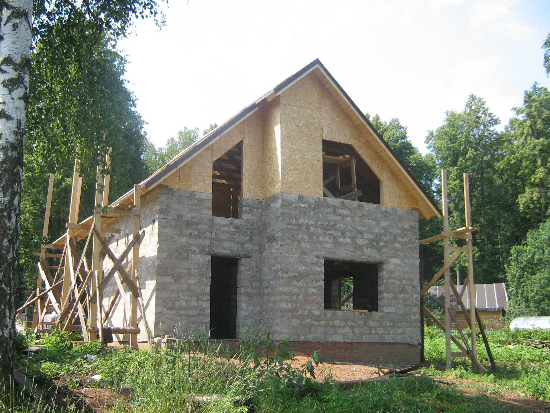 Построить двухэтажный дом своими руками