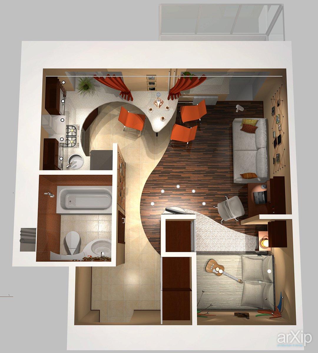Как сделать свою комнату в однокомнатной квартире 912
