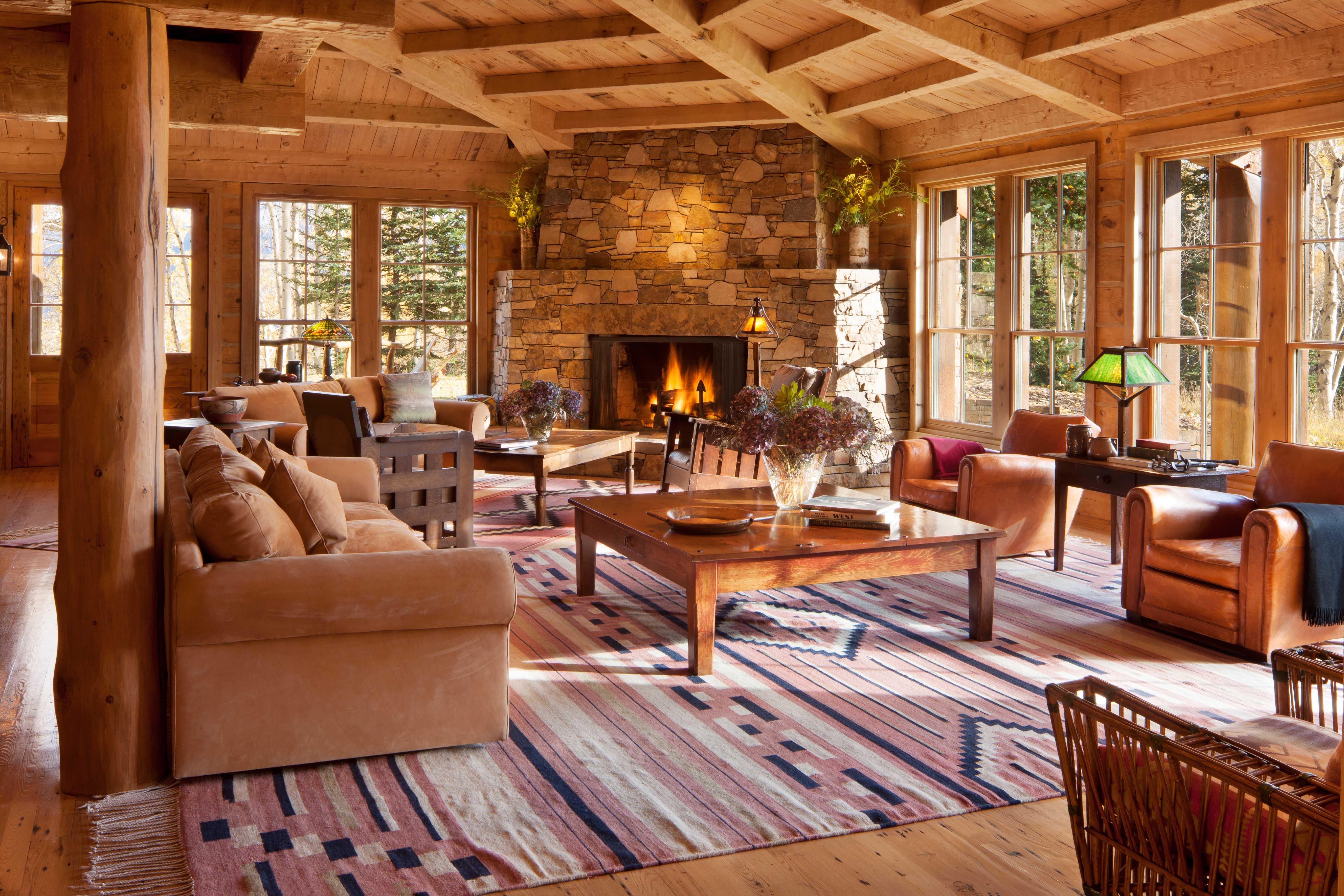 Шикарный интерьер деревянных домов внутри фото