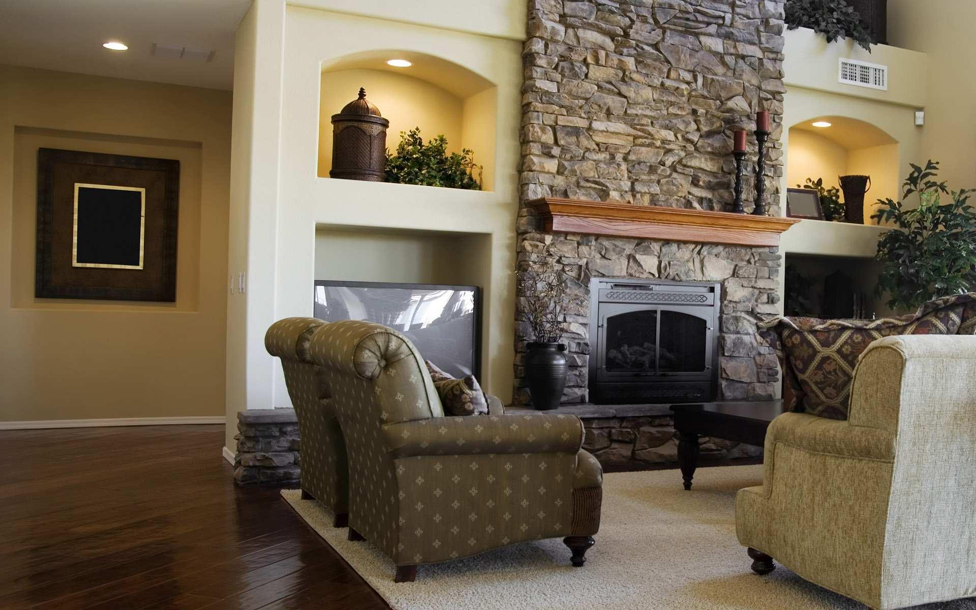 Камины фото в интерьере гостиной фото