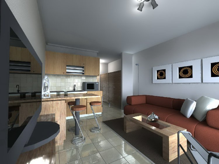 Дизайн квартиры 25 кв. м