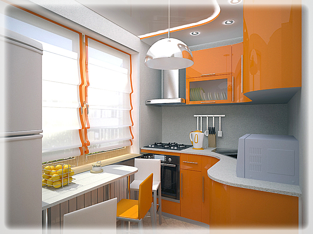 Интерьер 6 м кухни фото