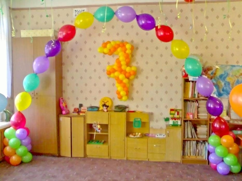 Украшение шарами на день рождение ребенка своими руками 365