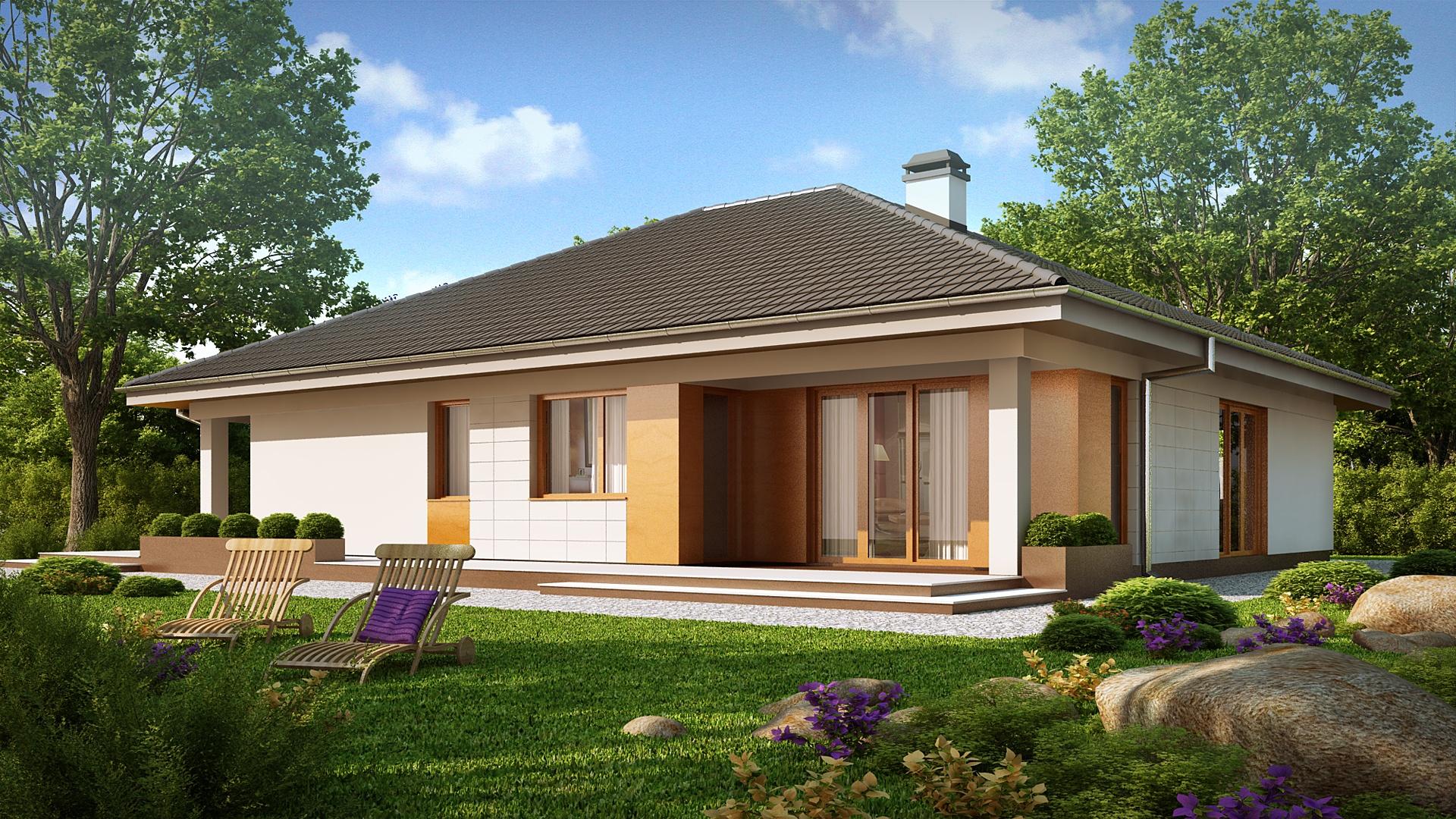 Дизайн одноэтажных кирпичных домов одноэтажных домов с мансардой