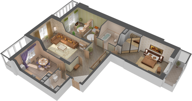 Проекты дизайна квартир 100 кв м