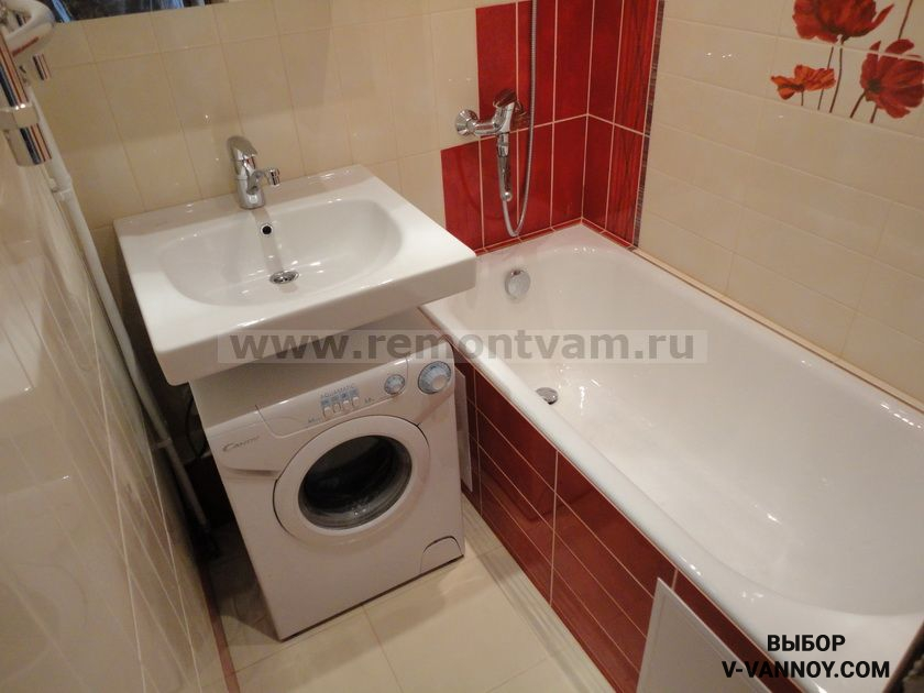 Маленькая ванная в хрущевке дизайн фото - Дизайн ванной комнаты в хрущевке, 23 фото интерьеров