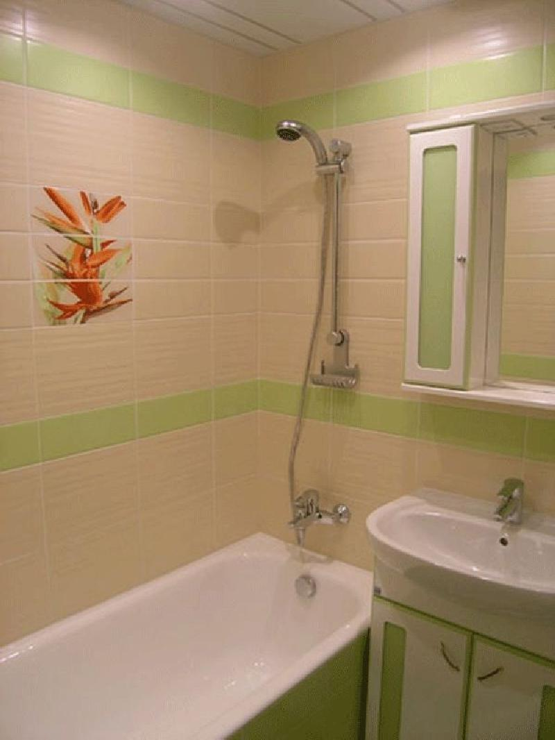 В пятиэтажке дизайн ванных комнат