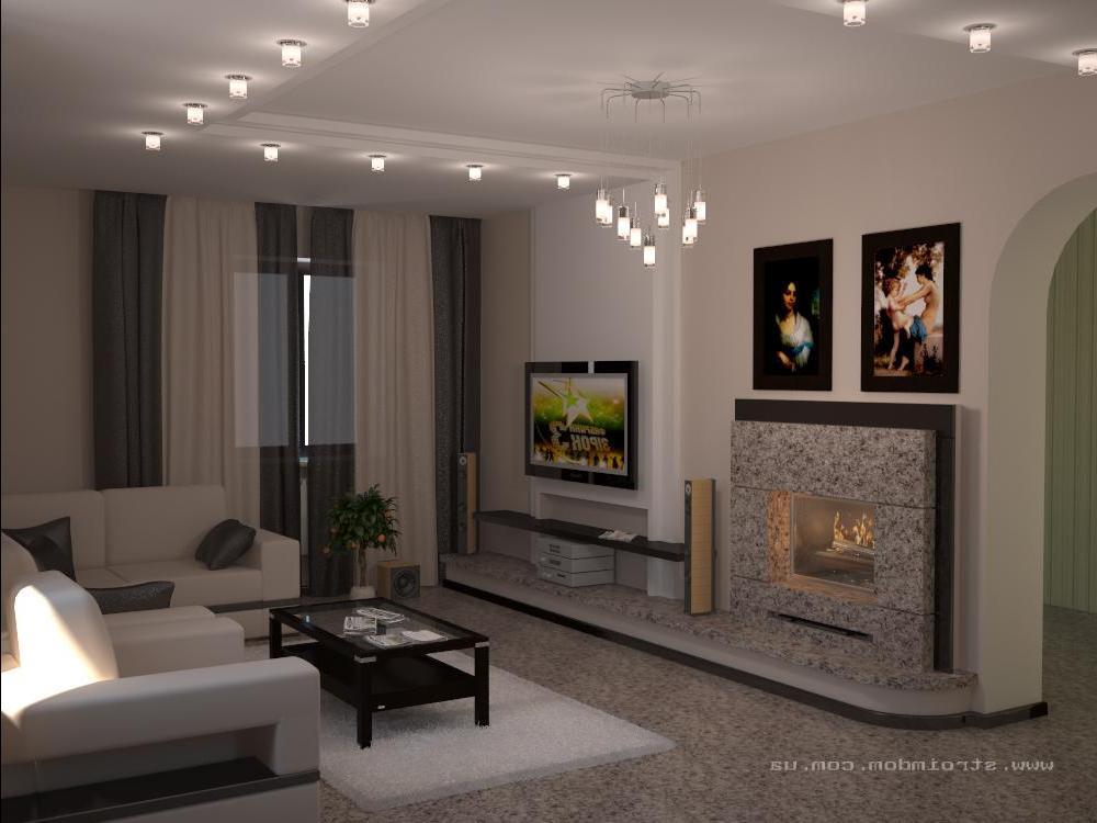Дизайн гостиной неоклассика 86