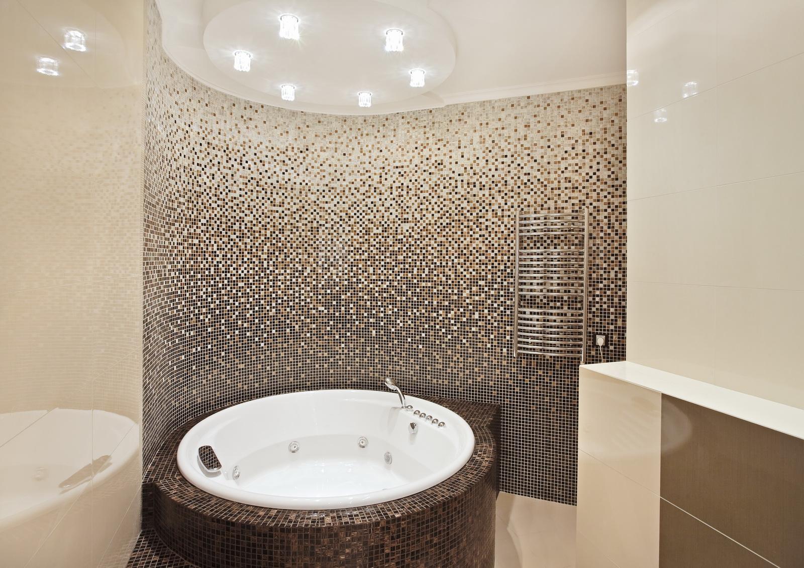 Фото ванных комнат дизайн в мозаике