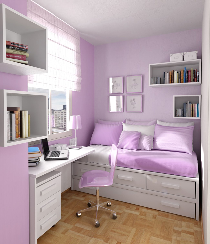 Интерьер комнаты 9 кв м для девушки фото