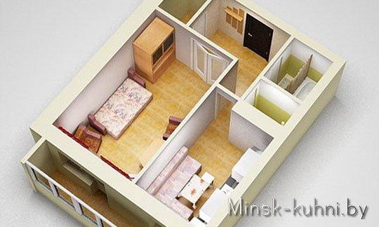 Как из однокомнатной квартиры сделать двухкомнатную фото