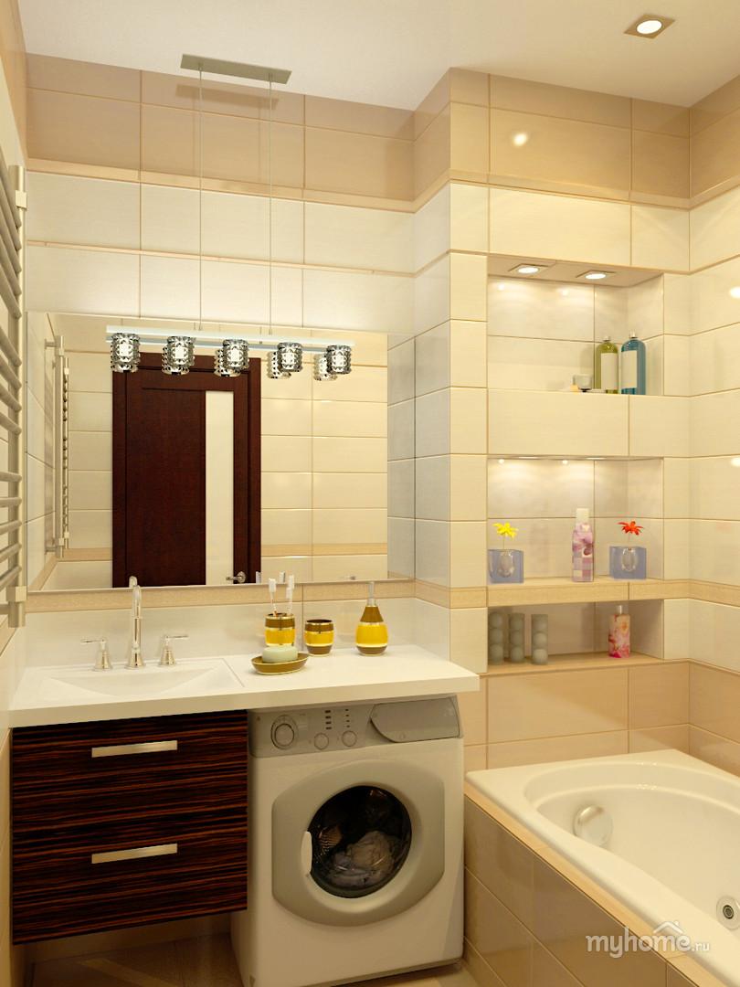 Дизайны ванной комнаты в двухкомнатной квартире