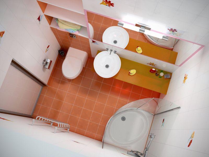 Дизайн проект маленьких ванных комнат