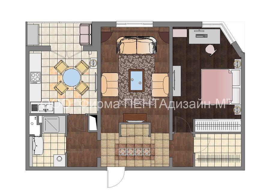 Дизайн проект квартиры п44