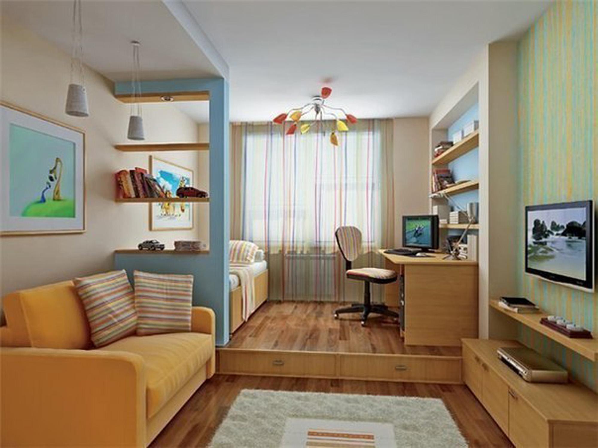 Дизайн одной комнатной квартире