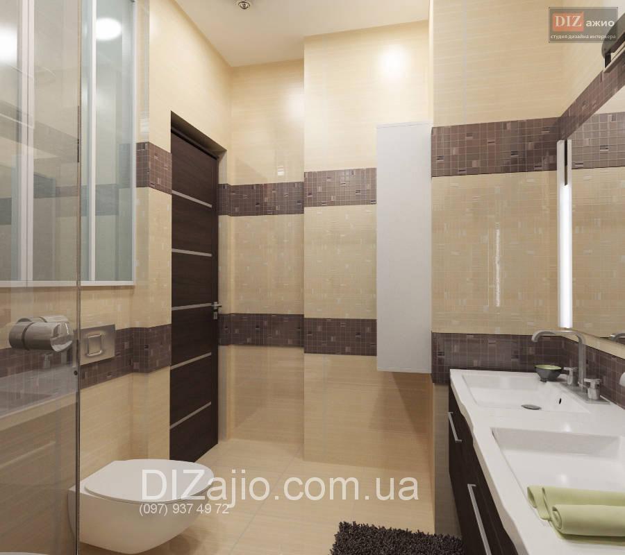 Дизайн ванной комнаты бежевая с коричневым
