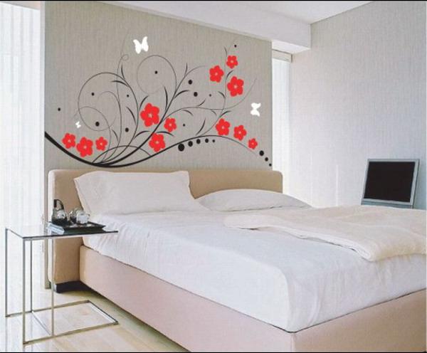 Декор спальни рисунком