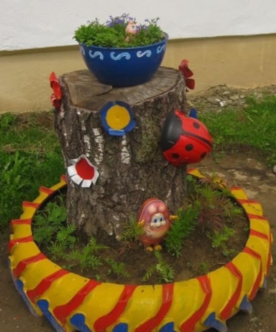 Садовый декор своими руками из подручных материалов 648