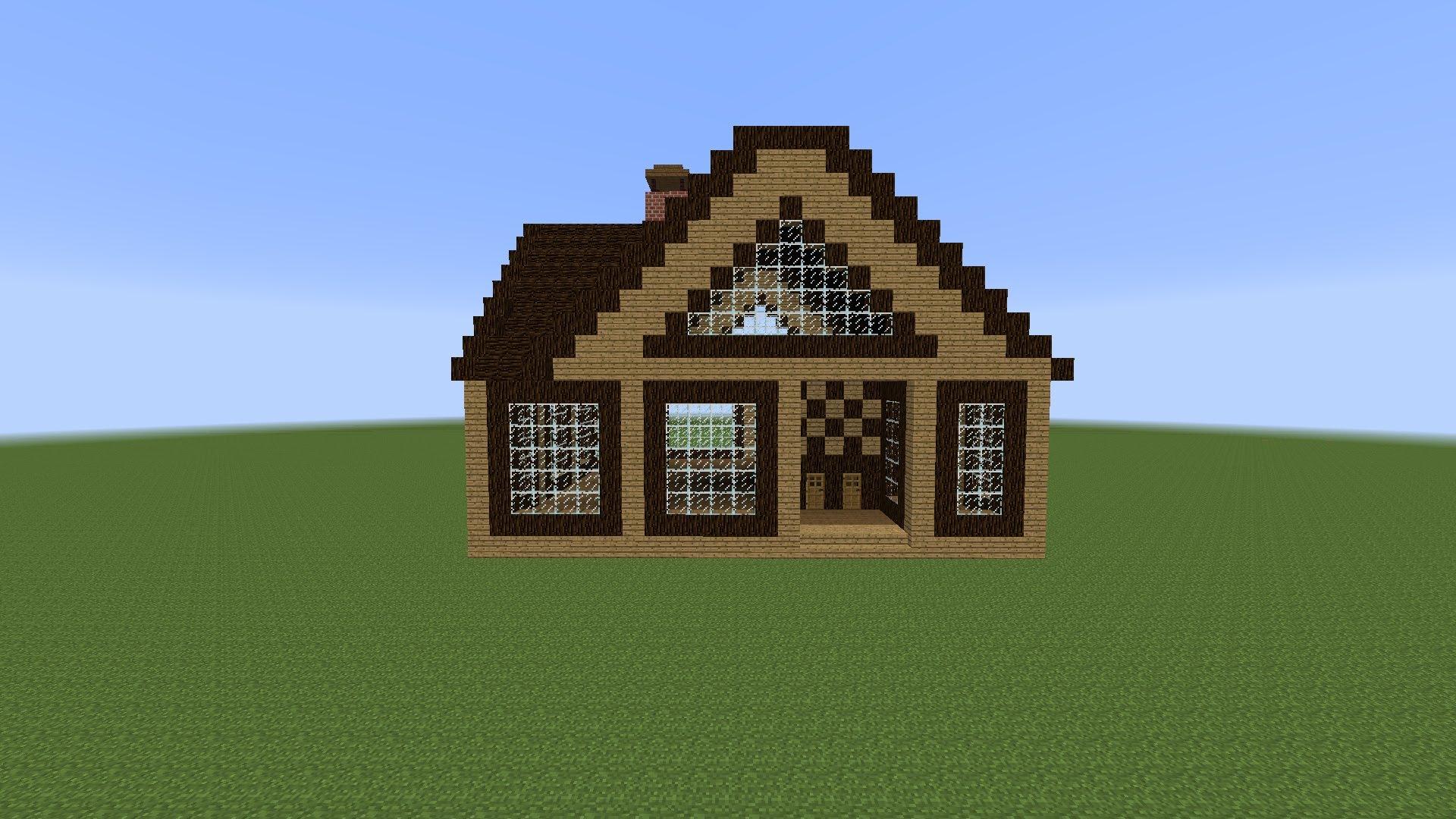 Как в майнкрафте сделать красивый дом в майнкрафте