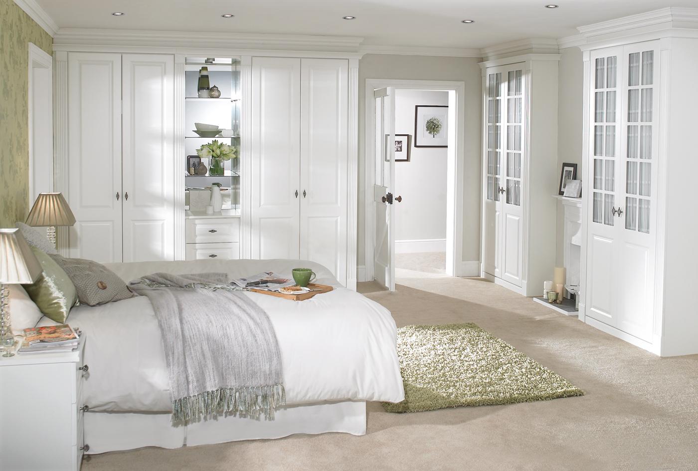 75Дизайн спальной комнаты в белом цвете