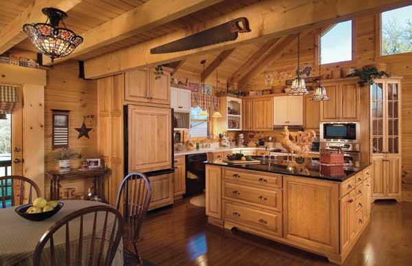 Фото интерьер кухни в стиле деревенском