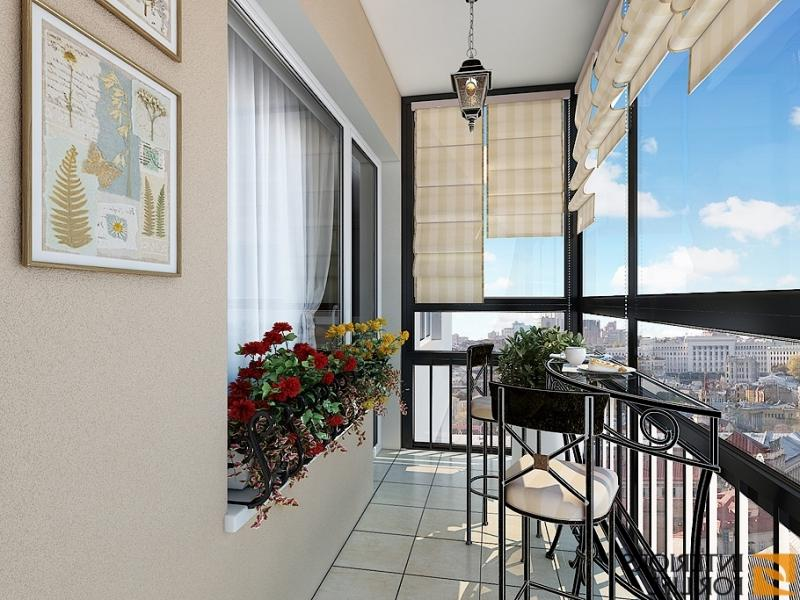 Дизайн внутри французского балкона фото.