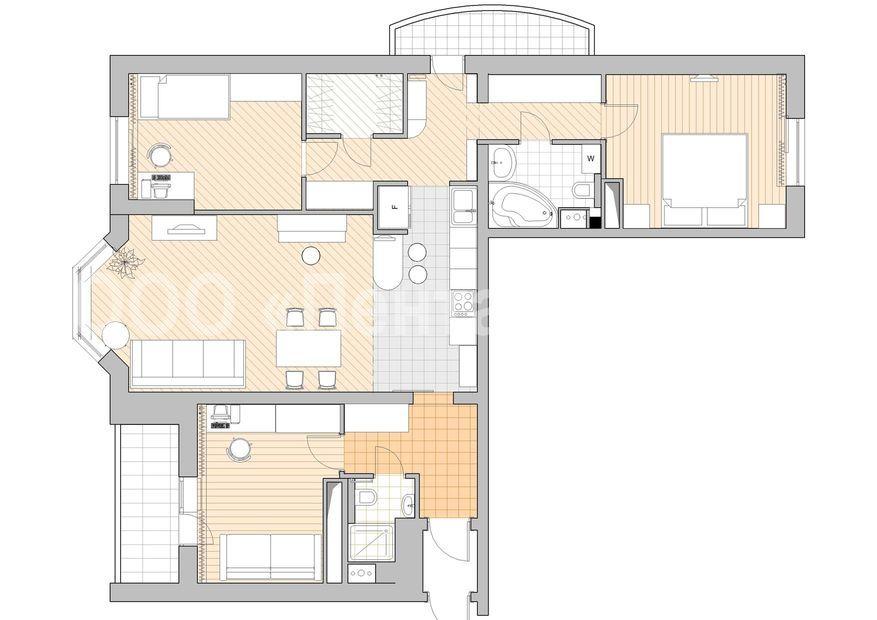 Планировка и дизайн квартир 3 комнатные