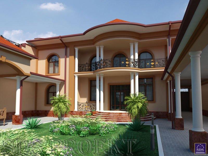 Дизайны домов в узбекистане
