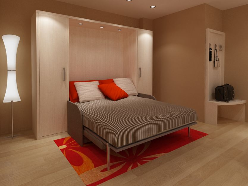 Дизайн спальной комнаты диван