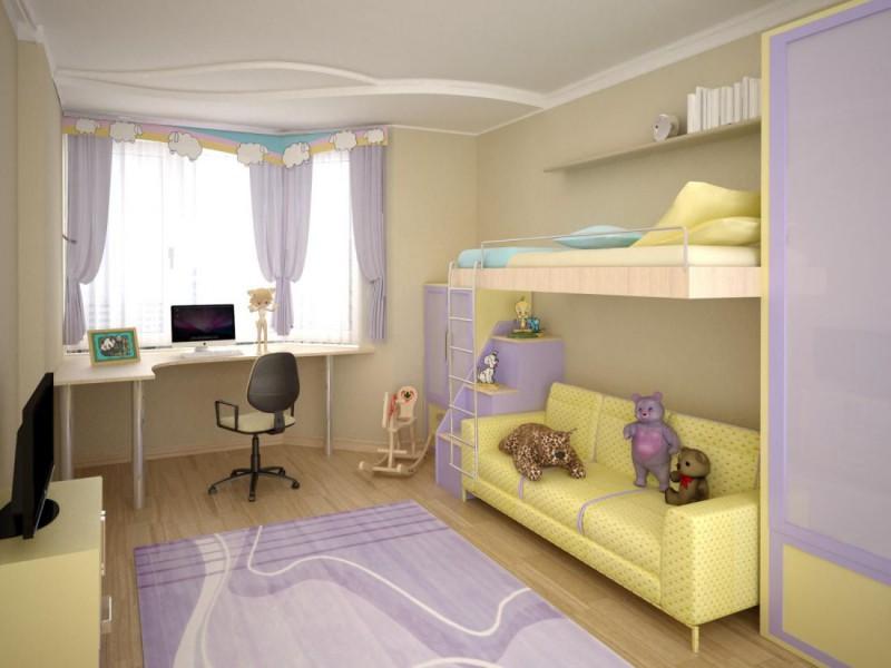 Дизайн детской комнаты для девочки в брежневке.