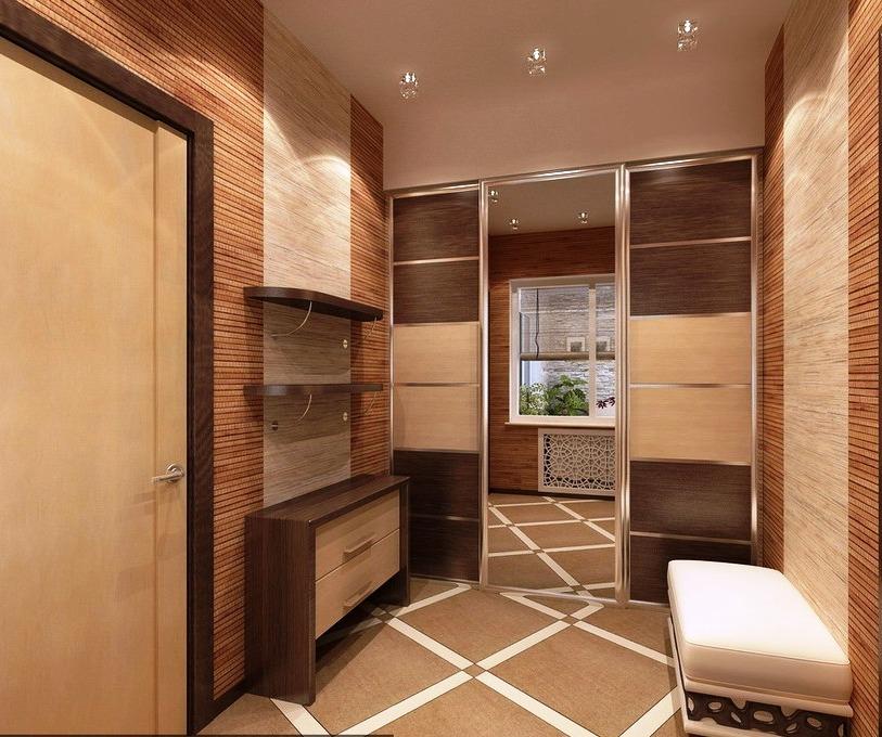 Квадратный маленький коридор в квартире дизайн