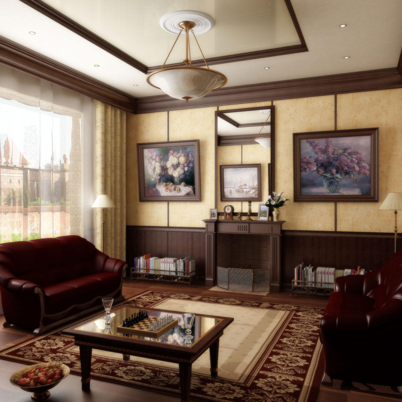 Дизайн комнат с камином фото