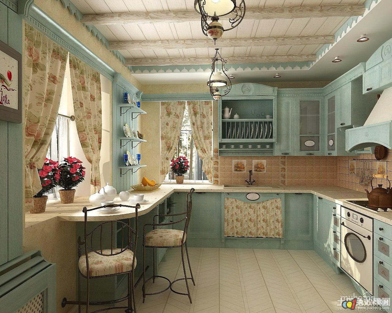 Дизайн кухня в стиле прованс интерьер